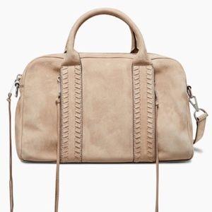 Rebecca Minkoff Vanity Zip Satchel Bag Sandstone